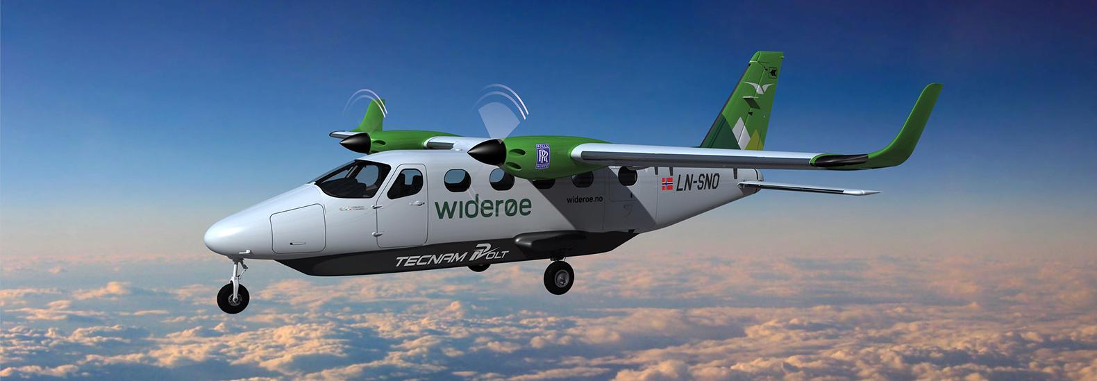 Rolls-Royce, Tecnam and Widerøe develop electric passenger airplane